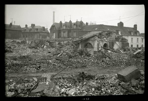 """""""Chantier de la démolition de l'usine Communeau – Rue de Rouen"""""""