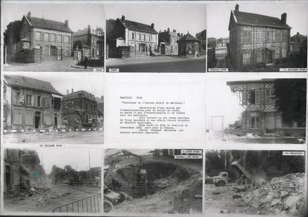 """Photo-souvenir destruction maison Watteeuw"""