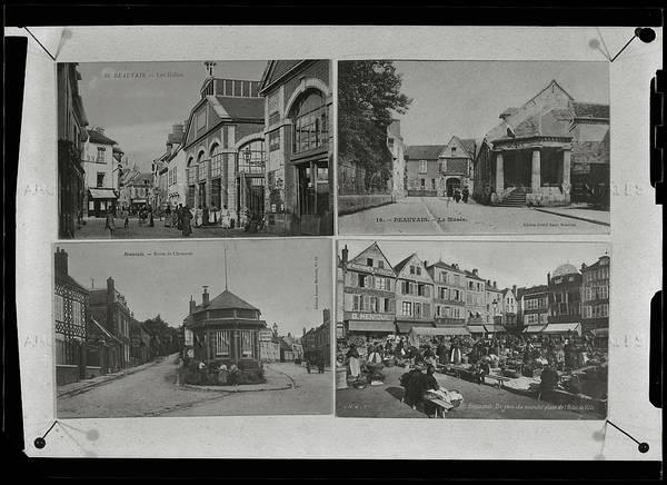 """""""Beauvais – reproduction de cartes-postales - cartes en couleur de la bibliothèque municipale"""""""